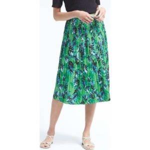 Banana Republic floral pleated midi skirt